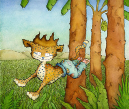 Animal-Trousers-Cheetah---Nibby-Williams-Picture-Book--illustration